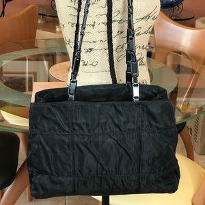 Final Price Drop!Prada Authentic Black Tessuto Bag